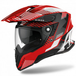 KASK AIROH COMMANDER BOOST RED GLOSS