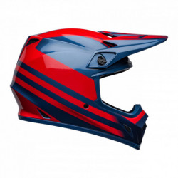 KASK BELL MX-9 MIPS DISRUPT TRUE BLUE/RED