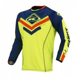 KENNY TITANIUM NAVY/NEON YELLOW JERSEY