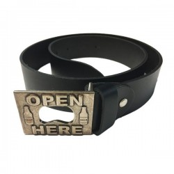 HELD LEATHER OPEN HERE BELT