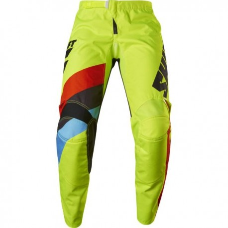 PANTS SHIFT JUNIOR WHITE TARMAC FLO YELLOW