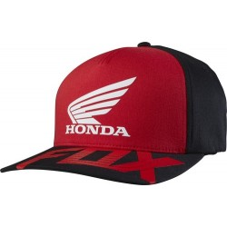 CZAPKA Z DASZKIEM FOX HONDA BASIC RED/BLACK