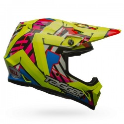 KASK BELL MX-9 MIPS TAGGER DOUBLE TROUBLE HI VIZ YELLOW