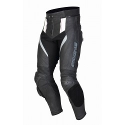 OZONE GRIP LEATHER PANTS BLACK/WHITE