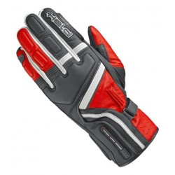 HELD TRAVEL 5 BLACK/RED LEATHER GLOVES
