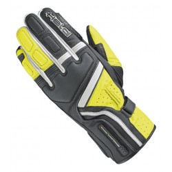 HELD TRAVEL 5 BLACK/FLO YELLOW LEATHER GLOVES