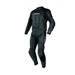 REBELHORN PISTON II STROKE II BLACK LEATHER SUIT