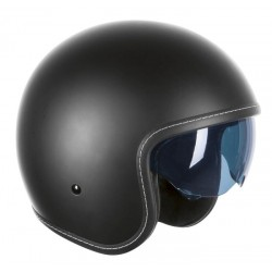 HELMET OZONE OPEN FACE OP-01 BLACK MATT